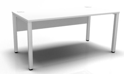 Avalon Straight Bench White Top White Frame
