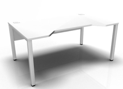 Avalon Double Wave Bench Desk In White