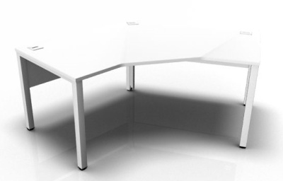 Avalon Pentagon Bench Desk In White