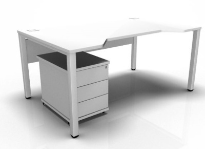 Avalon Double Wave Desk And Pedestal Package