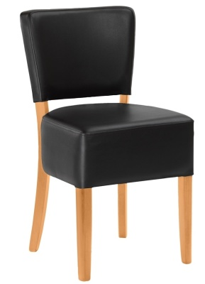 Dijon Express Dining Chair Black Leather