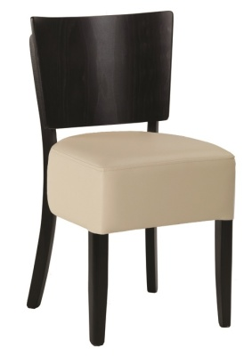Weston Dining Chairs Ivory And Wenge
