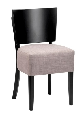 Weston Dining Chairs With A Blaxck Frame And Sleae Linen Fabric