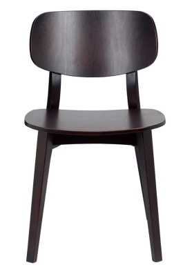 Geko All Wood Sining Side Chair Front View