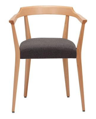 Lako Dining Chair With Upholstered Seat Front View