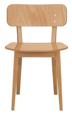 Lanciano Chair In Dark Oak Front View