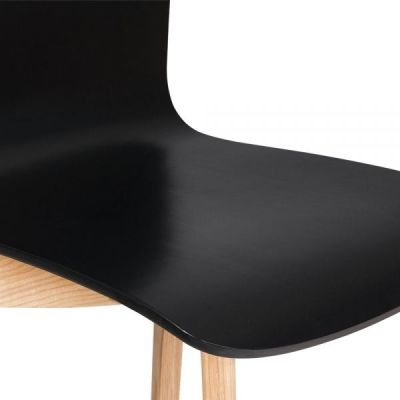 Montrose Black Dining Chair Detail Shot