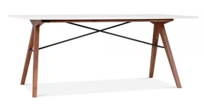 Track Deigner Industrial Table With A White Top 1