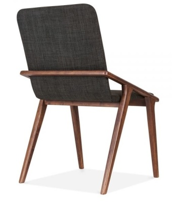 Welbeck Chair Dark Grey Fabric Rear Angle View
