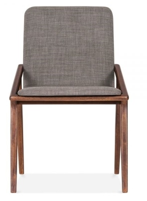 Welbec Chair Light Grey Fabric Front View