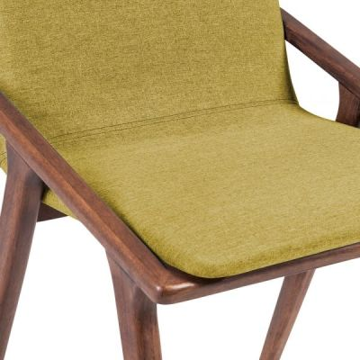 Welbec Chair Olive Fabric Detail Shot