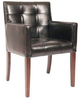 Wilton Leather Carver Chair
