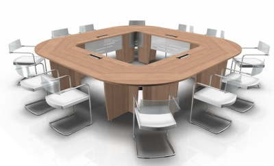 Select Square Table With Desk Top Module