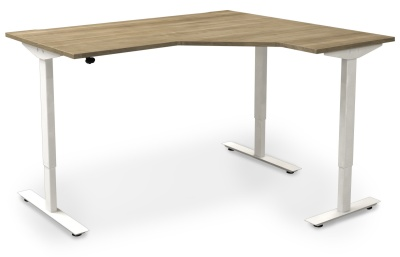 Avalon Right Hand Electrical Sit Stand Corner Desk