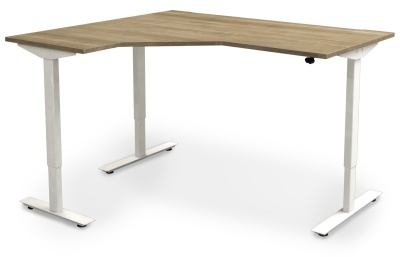 Avalon Left Hand Electrical Sit Stand Corner Desk