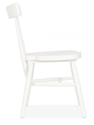 Trapeze Wooden Dining Chair Side View