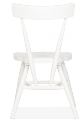Trapeze White Chair Front
