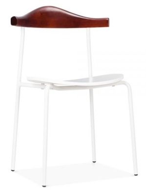 Alisa Dining Chair In White Front Angle