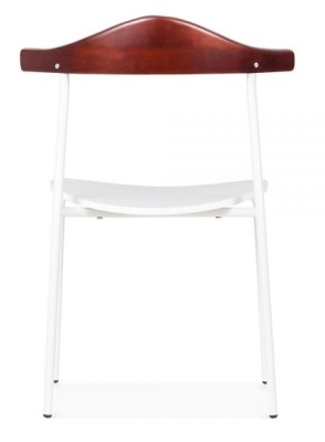 Alisa Dining Chair In White Rear View