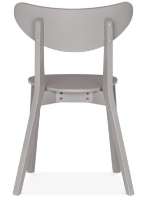 Joshua Dining Chair In Grey Rear View