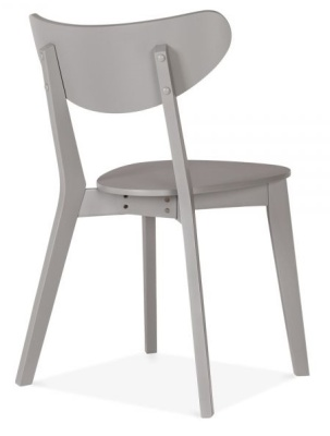 Joshua Wiooden Dining Chair In Grey Reat Angle View