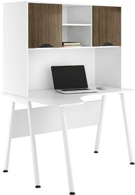 UCLIC Refelections Aspire Coner Desk With An Overhead Cupboard With Dark Olive Doors