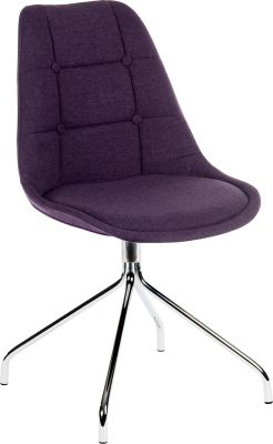 Metz Four Star Chair Plum Fabrioc Angle Shot