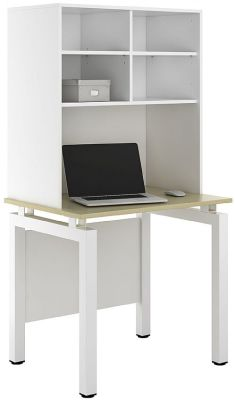 UCLIC Engage Sylvan Desk With Overhead Shelving