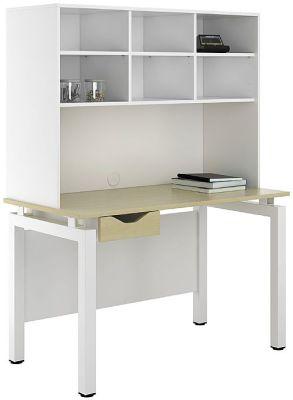 UCLIC Engage Sylvan Desk With Single Dawer And Overhead Shelving
