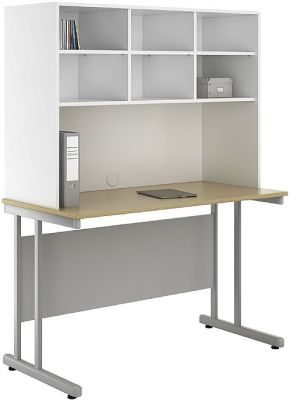 UCLIC Create Desk With Overhead Storage