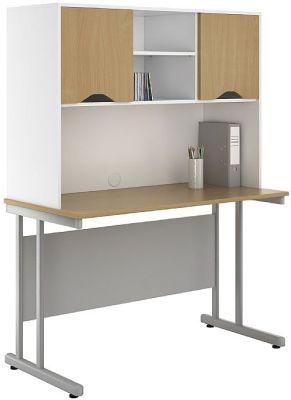 UCLIC Create Sylvan Desk And Obverhead Cupboards 1