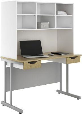 UCLIC Create Two Darwer Desk And Shelving 2