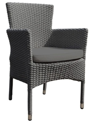 Cuba Weave Armchair With Brown Seat Cushion