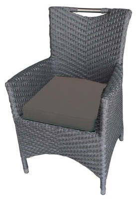 San Juan Rattan Armchair With Brown Seat Cushion