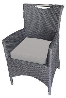San Juan Rattan Armchair With Light Grey Seat Cushion