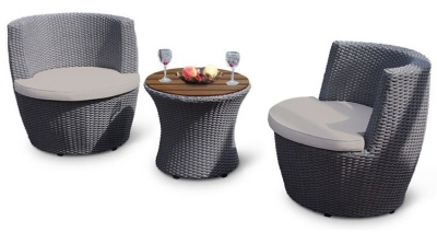 Riveria Lounge Set With Light Grey Cushions