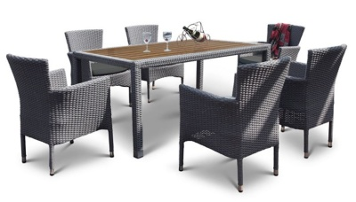 San Juan Outdoor Weave Dining Set 1