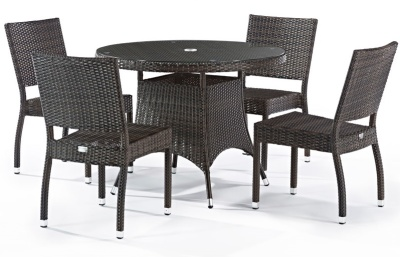 Orion Four Person Outdoor Weave Dining Set