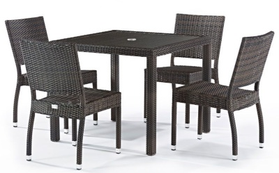 Orion Four Person Dining Set With A Square Table