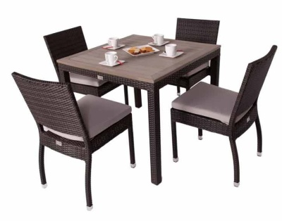 Orion Four Person Dining Set With A Teak Effect Top