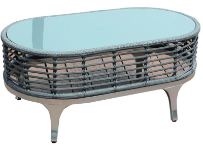 Riveria Low Table With A Glass Top