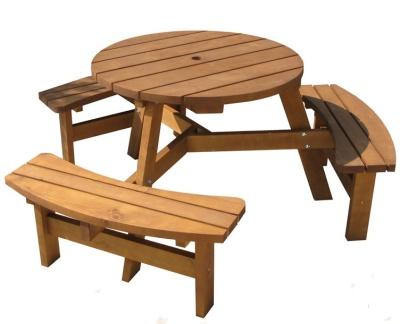 Nottingham Six Seater Picnic Table