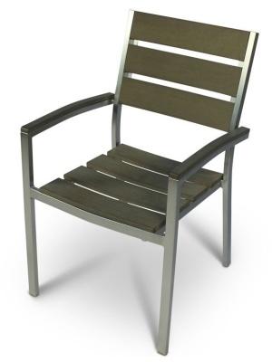 Western Brushed Aluminium Armchair 1