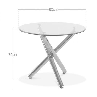 Modena Glass Table Dims