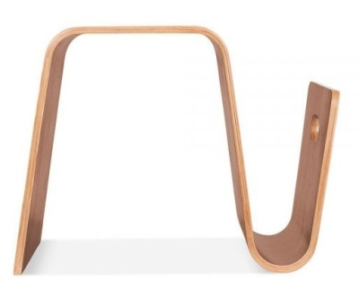 Madrid Bentwood Stool In Walnut Side View