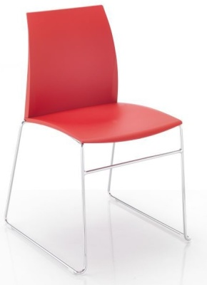 Tucker Poly Chair With A Skid Frame 1