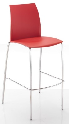 Tucker Designer Poly High Stool Front Angle