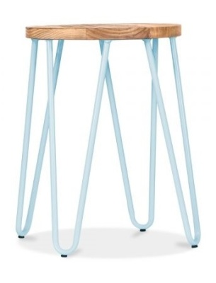 Hairpin Low Stool Pastel Blue Frame 1