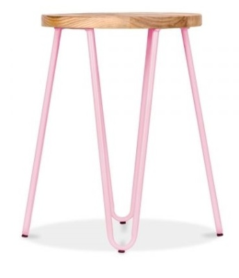 Hairpin Low Stool With A Peppermint Frame 3