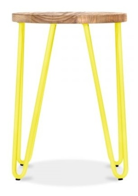 Hairpin Stool With A Yellow Frame 2